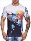 T-shirt Cinc Clown white