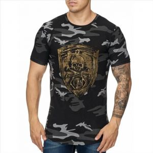 T-shirt Exploration Skull FP1039 black camo