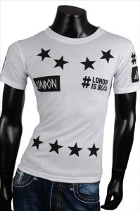 Fashion t-shirt London white