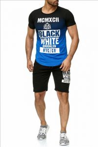 Szorty i t-shirt ST-06 black&blue