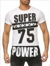T-shirt Super Power white