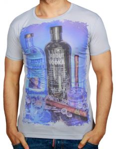 T-shirt ReRock Vodka grey