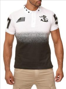 T-shirt polo Stars white