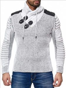 Sweter - bluza Wasabi M5017 light grey