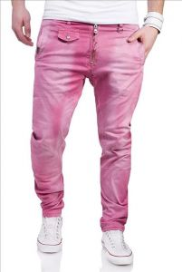 Jeansy M6832 pink