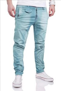 Jeansy M6832 light blue